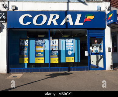 Coral betting shop in Water Lane, Totton, Hampshire, England, UK - Stock Photo