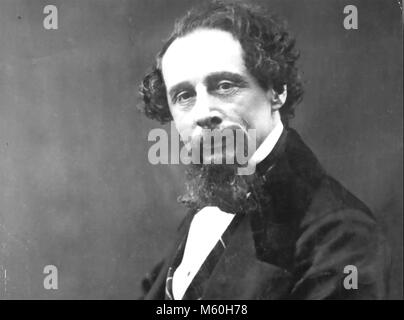 CHARLES DICKENS (1812-1870) English novelist about 1860 - Stock Photo