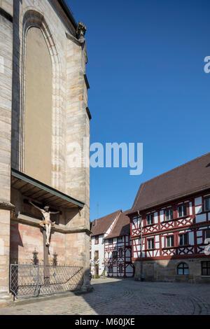 Martinskirche, or St. Martin's Church,  Forchheim, Bavaria, Germany - Stock Photo