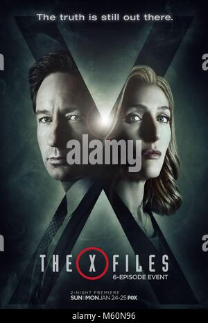 DAVID DUCHOVNY & GILLIAN ANDERSON POSTER THE X-FILES; THE X FILES (2016) - Stock Photo