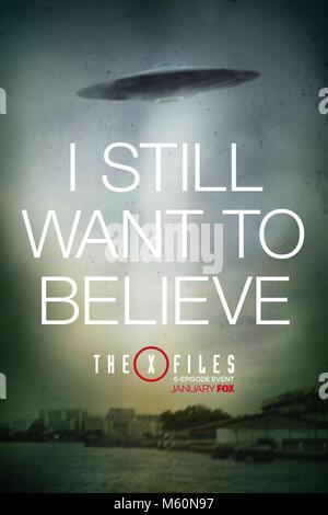 MOVIE POSTER THE X-FILES; THE X FILES (2016) - Stock Photo