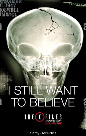 ALIEN SKULL X-RAY POSTER THE X-FILES; THE X FILES (2016) - Stock Photo