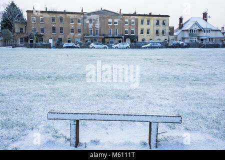 Windsor, UK. 27th February, 2018. A late afternoon snowfall in Windsor Great Park. Credit: Mark Kerrison/Alamy Live - Stock Photo