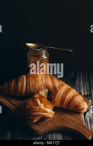 French croissants for Breakfast - Stock Photo