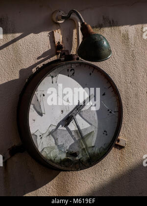 Old factory clock - Stock Photo