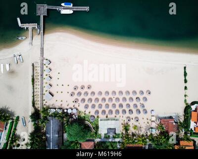 Mussulo beach in Luanda, Angola - Stock Photo