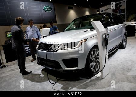All Electric Range Rover Sport PHEV At The San Diego Stock - San diego international car show discount tickets