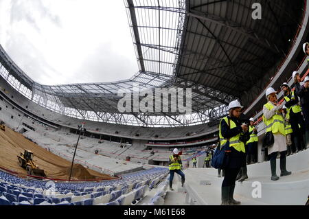 Official visit of the Stadium of the Lights , Decines, France - Stock Photo