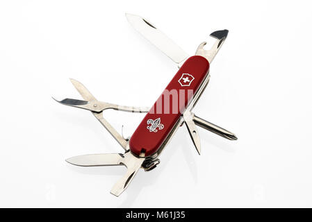 Swiss Army Knife, Boy Scouts Pocket Knife - Stock Photo
