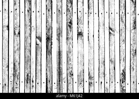 Grunge wooden pattern for overlay on surfaces, planks with many nails and screws, many knots, cracks, scratches - Stock Photo