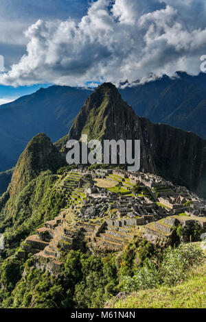 Machu Picchu ruins, Cusco, Peru - Stock Photo