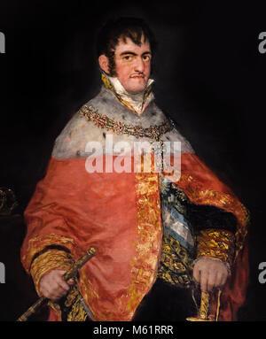 FRANCISCO JOSÉ DE GOYA Y LUCIENTES (1746-1828) 18/19th, century, Spain, Spanish, Retrato del Rey Fernando VII de - Stock Photo