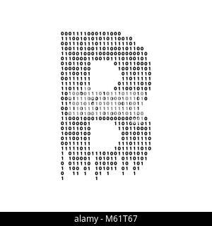 Vector abstract Illustration. Bitcoin technology - Stock Photo