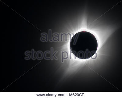 Total eclipse on August 21, 2017. - Stock Photo