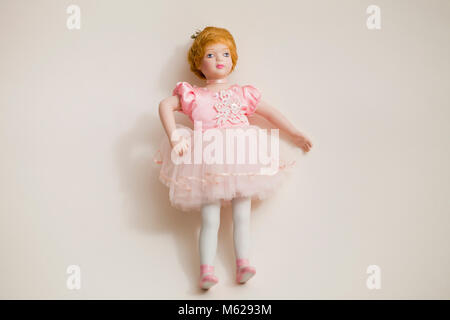 Bisque doll (Porcelain doll) - Stock Photo