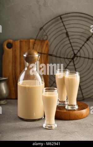Homemade irish cream liquor - Stock Photo