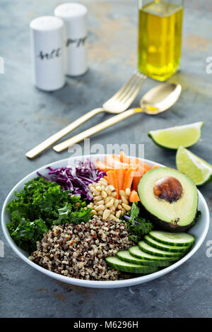 Vegan bowl with vegetables and quinoa - Stock Photo