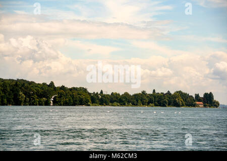 The lake of Constance in Germany Bodensee - Stock Photo