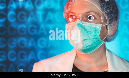 Medical geneticists diagnosing genetic disorders, healthcare medical professional working in hospital clinic - Stock Photo