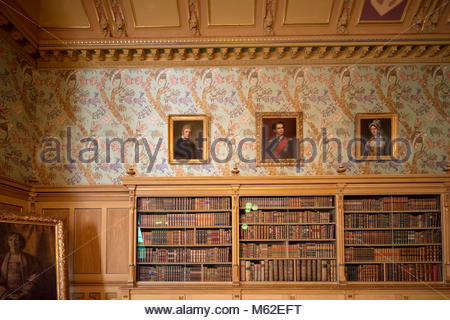 living or reception room in Wahnfried, the villa of Richard Wagner in  Bayreuth, Bavaria, Germany - Stock Photo