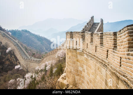 Great Wall of China, the Badaling section - Stock Photo