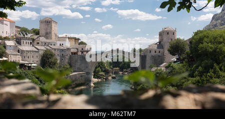 Mostar Bridge in Bosnia - Stock Photo