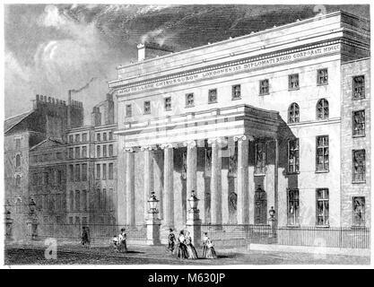 An engraving of the Royal College of Surgeons, London scanned at high resolution from a book printed in 1851. Believed - Stock Photo