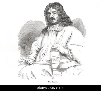 John Bunyan, English writer, Puritan preacher and author of The Pilgrim's Progress - Stock Photo