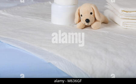 Disposable changing pads for babies Closeup Stock Photo 175862624