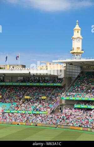 Test cricket match at Sydney Cricket Ground, Sydney, New South Wales, Australia - Stock Photo