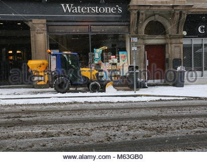 Dundee, UK. 28th February 2018. Overnight snow from Beast from the East weather front brings wintery scenes at the - Stock Photo