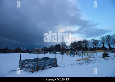 Edinburgh, Scotland, UK. 28th February, 2018. A photograph of the Beast from the East Storm moving into Edinburgh - Stock Photo