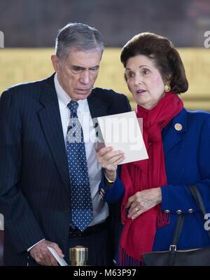 Former United States Senator Chuck Robb (Democrat of Virginia) and his wife, Lynda Bird Johnson Robb, eldest daughter - Stock Photo