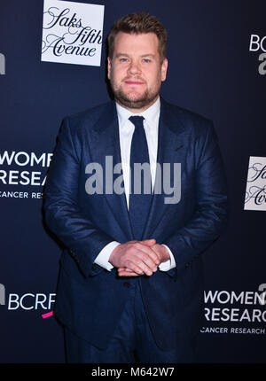 Los Angeles, California, USA. 27th Feb, 2018. James Corden   arrives at the The Women's Cancer Research Fund's An - Stock Photo