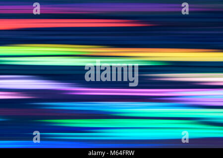 Spectrum abstract vaporwave holographic background, trendy colorful backdrop in horizontal neon color lines. For - Stock Photo