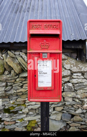 Post Office letter box on East side of main road through Bentpath - Stock Photo