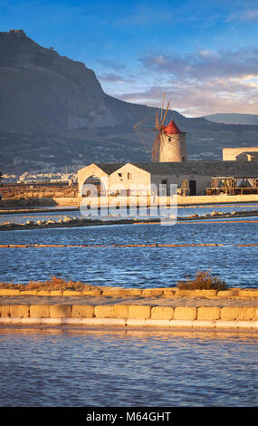 Pictures & images of the salt pans of the Nubia Salt works Museum and Nubia wind mill,  World Wildlife reserve of - Stock Photo