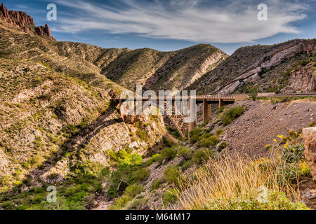 Road Bridge In A Canyon Near Pieve Di Tremosine Near Lake