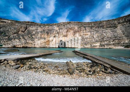 Inland Sea Divesite, Gozo, Malta, Europe. - Stock Photo