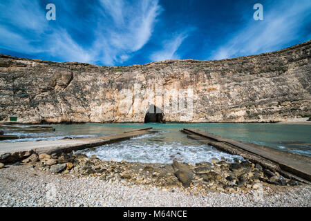 Inland Sea Divesite, Gozo, Malta, Europe. - Stock Photo