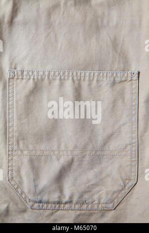 canvas jacket pocket - Stock Photo