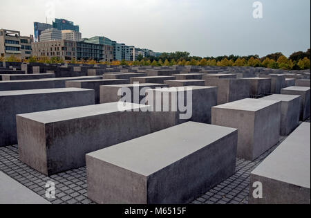 Holocaust Mahnmal, Berlin, Deutschland, Europa - Stock Photo