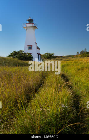 New London Range Rear Light or lighthouse located in French River, Prince Edward Island, Canada. - Stock Photo