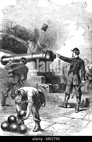 Old civil war cannons firing cannon balls stock photo 181384104 alamy 1860s union soldiers firing cannon at fort sumter charleston harbor south carolina usa h9855 har001 thecheapjerseys Choice Image
