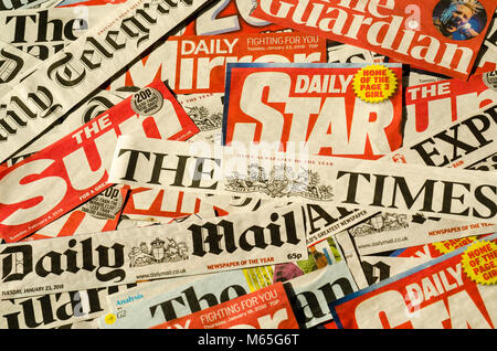Newspapers from the United Kingdom - Stock Photo