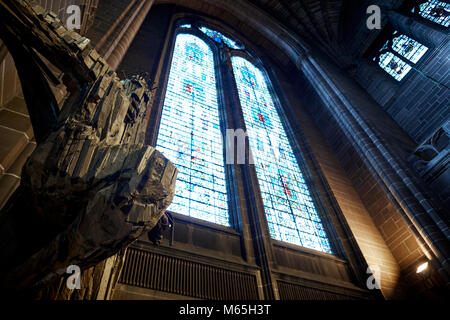 The Outraged Christ is a work of art now on display in Liverpool Cathedral,