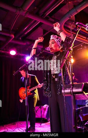 Yuna, Yunalis binti Mat Zara'ai, malaysian musician singer songwriter artist performing at U Street Music Hall. - Stock Photo