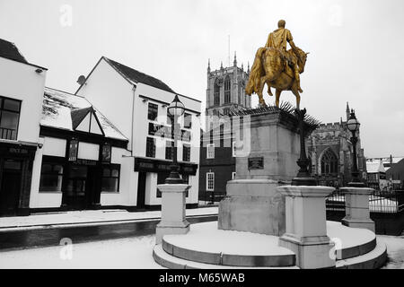 King billy statue, Market Place, Kingston Upon Hull - Stock Photo
