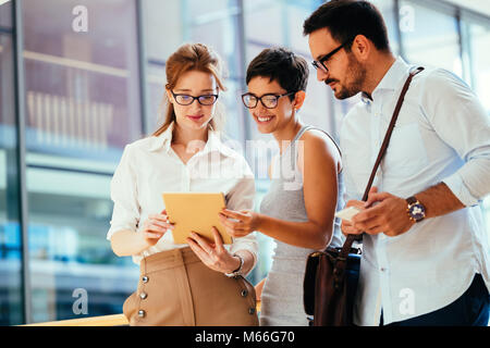Business people having fun in office - Stock Photo