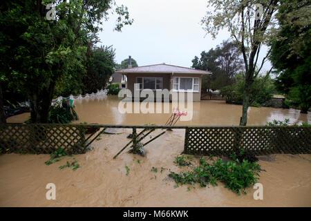 Picture by Tim Cuff 20 February 2018 - Cyclone Gita hits Riwaka hard, Nelson Tasman district, New Zealand - Stock Photo